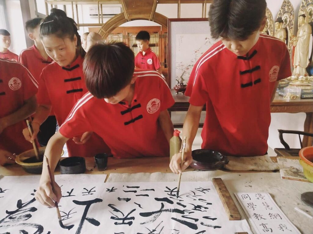 Chinese language and calligraphy classes at kung fu school in China 6